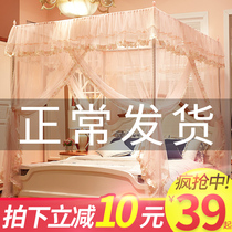 Floor New household mosquito net 1 5m Bed Princess wind 1 8m net red bracket grain account 2 meters encryption thickening 1 2