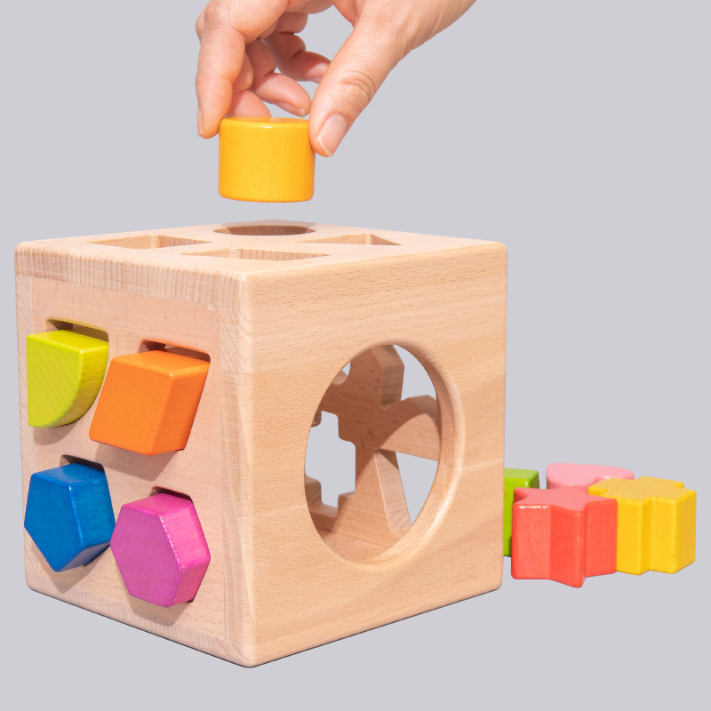 Baby Geometry Matched with Building Block Babies Intelligence Recognition Kids Toy Intelligence Box 1-2-3 Years Old Boys