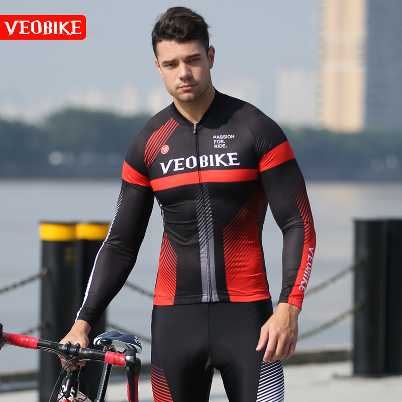 Spring and Autumn Cycling Wear, Long Sleeve Suit, Men's Cycling Wear, Mountainous Bicycle Cycling Wear and Pants