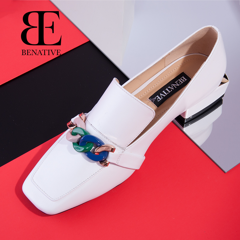 Chain Series Bena 2019 New Spring Female Lefu Shoes