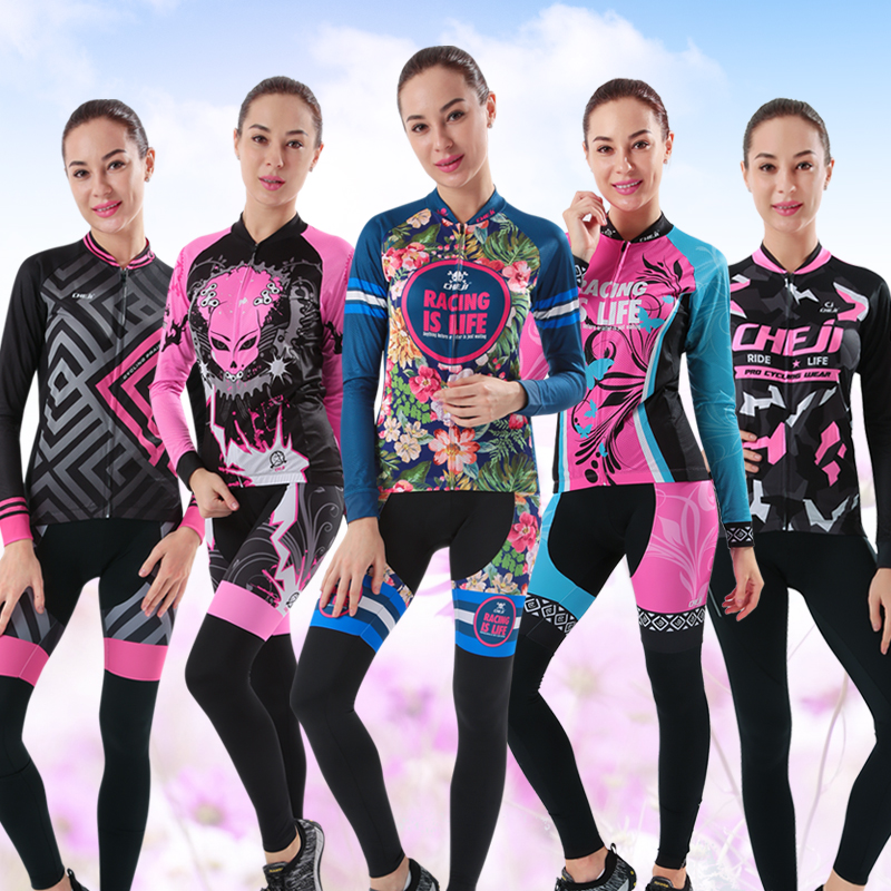 Cycling Wear Women Summer Long Sleeve Suit Spring and Autumn Sunscreen Breathing and Youth Slimming [Goddess Temperament Model]