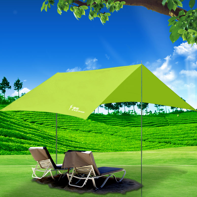 Feitou Sky Tent Outdoor Canopy Sunscreen-coated Silver Ultraviolet Camping Canopy Large Folding Rain-proof Sunshade