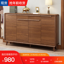 Into the door living room Xuanguan cabinet shoe cabinet home door solid wood new Chinese Yangxuan storage cabinet to collect large capacity Nordic