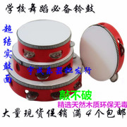 4 new manufacturers shipping special offer Orff Instrument Professional Dance rattles 6810 INCH RED sheepskin tambourine
