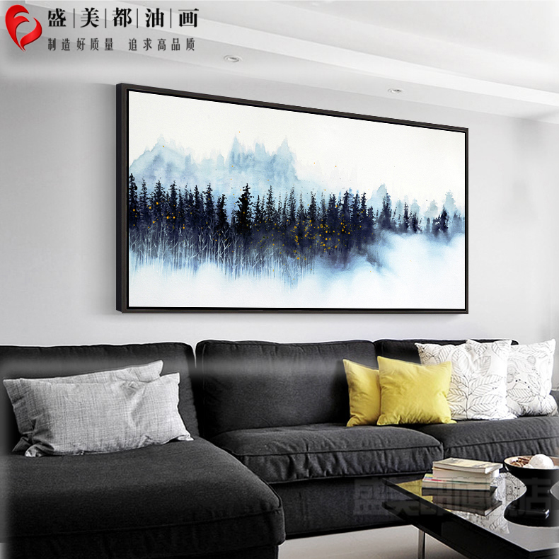 The living room Abstract hanging painting hand-painted scenery modern simple Nordic Chinese Restaurant Hotel Villa Painting American style
