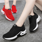 Sport shoes, running shoes fall 2017 mesh breathable lightweight Korean air cushion shoes black shoes all-match students