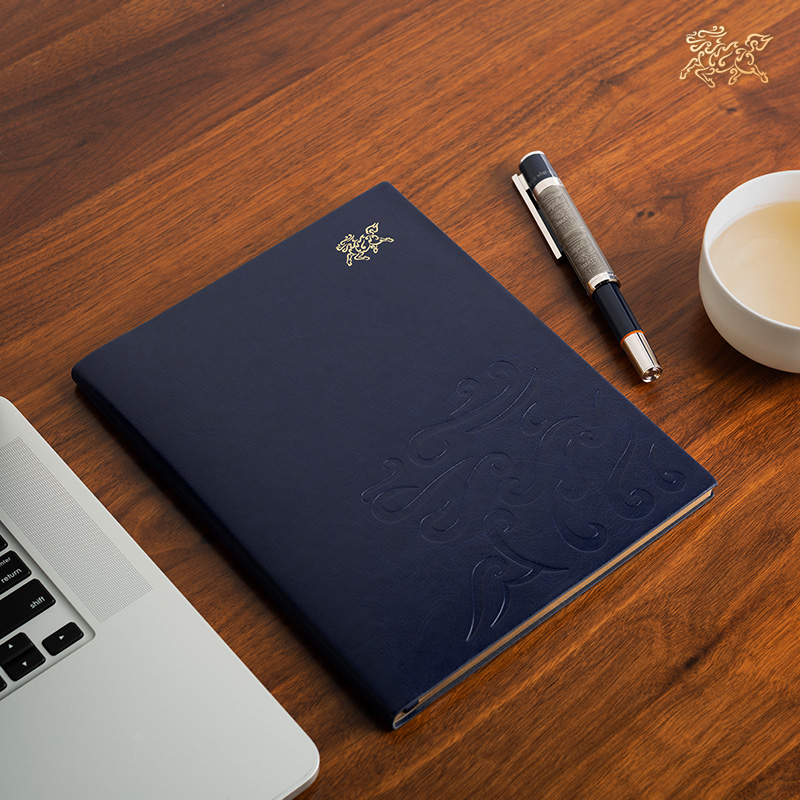 Copper master notebook business notebook high-grade PU leather retro luxury leather notebook