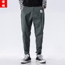 Fall 2019 Men's casual pants Korean version trend 9 sub-pants Men's teenagers loose overalls men's pants new style