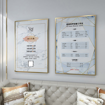 Beauty salon project price list manicure eyelashes beauty 髮 price list high-end design border wall attached to the wall custom