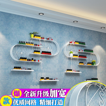 Nail shelf wall hanging U-shaped iron nail polish stand nail polish display stand cosmetic shelf mask holder