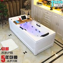 Luxe autoportant acrylique européenne petit ménage adulte baignoire surf massage thermostat chauffage baignoire