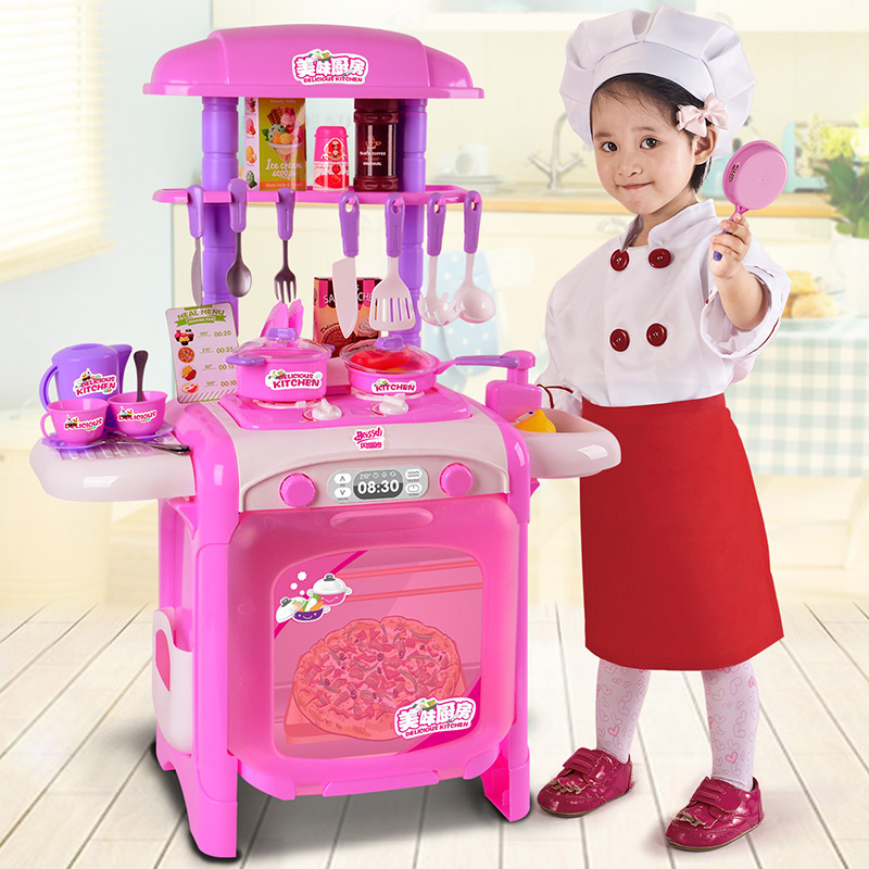 Children's Kitchen Simulated Kitchenware Home Toys 1-3-6 Years Old 4 Girls Cooking Girls Baby Cooking Suit
