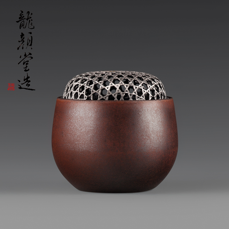 Long Yantang Perfect Manual Pottery Incense Furnace Ceramic Incense Furnace Seal Incense Furnace Japanese Incense Projects Free Engraving