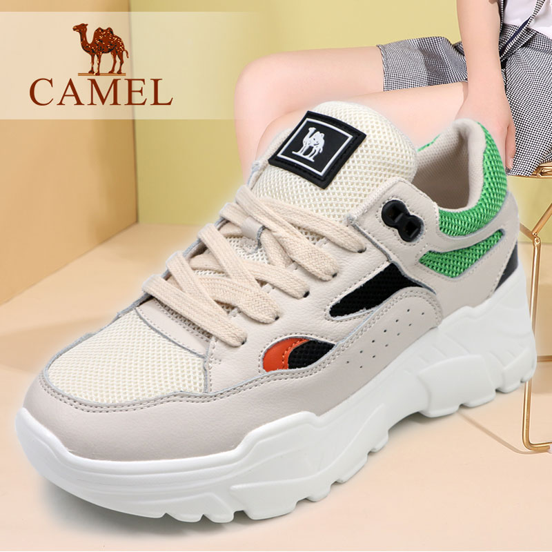 Camel/Camel Women's Shoes Fall 2018 New Youth Fashion Leisure Shoes Thick-soled Outdoor Sports Travel Shoes