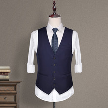 Men's suit, waistcoat, body-shaping, autumn best man's dress, brothers'dress, bridegroom's wedding dress, leisure suit and horse clip