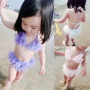 Baby baby girls swimsuit split bikinis swimsuits lovely lace swimsuit. Children: 1-2-3 years old