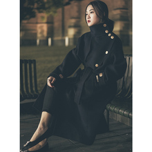 New Medium and Long Dual-sided Wool Coat, Female Cashmere Wool Cloak, Fall and Winter