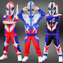 Ultraman clothes boys spring suit children spring and autumn models of foreign air spring tide handsome Spider Man Boy childrens clothing