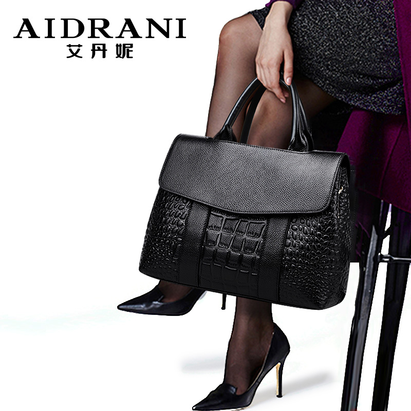 Adani leather lady bag crocodile pattern Handbag large capacity lady bag