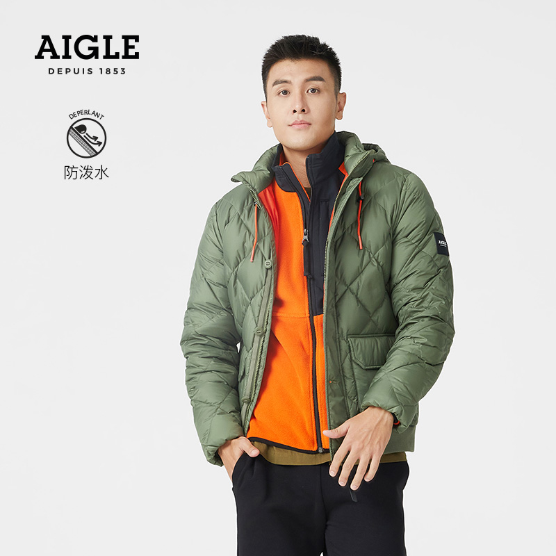AIGLE AIGAO BABERLIUS GD mens water-proof warm and comfortable hooded down jacket