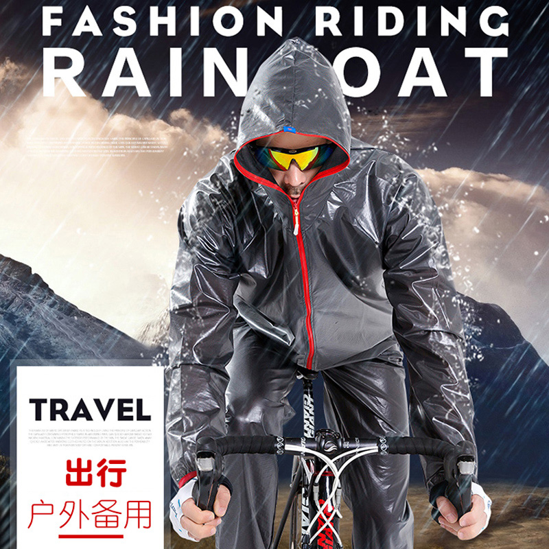 Rainwear and rainpants suit for mountain bike riding