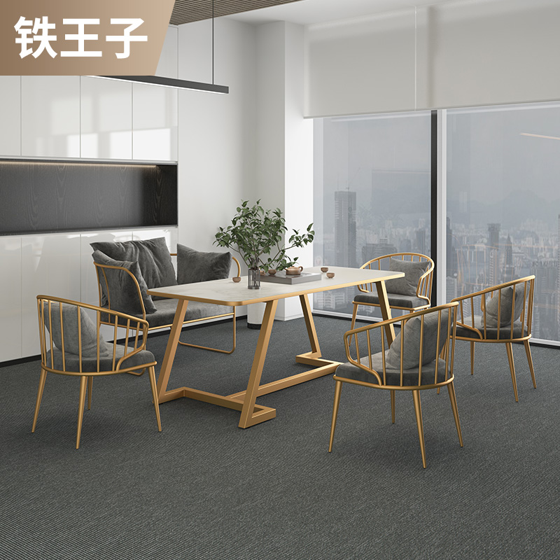 Tea table office guests receive tea table and chair combination light luxury modern marble yang make tea Nordic tea
