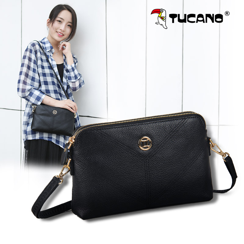 Woodpecker leather handbags shoulder Messenger bag ladies small bag 2018 new wave summer Korean version of the simple wild