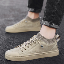 2020 new spring casual shoes mens shoes flat shoes mens shoes Korean trend winter mens shoes