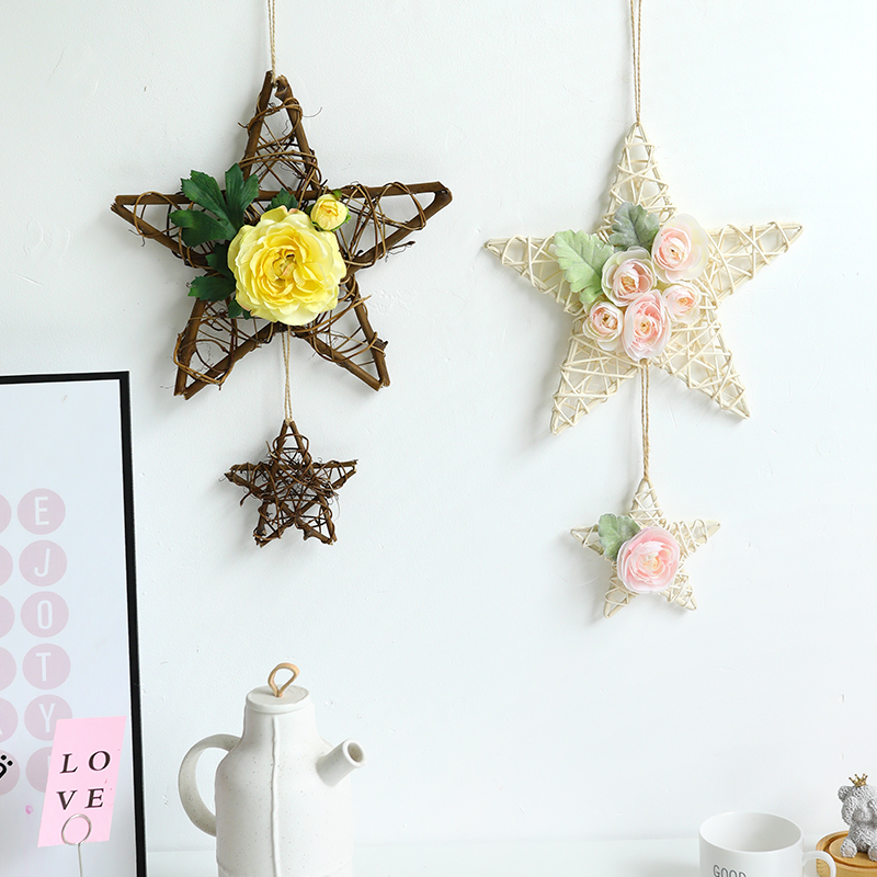 Creative living room dormitory background wall bedroom decoration wall small hanging staircase wall hanging ornaments flower