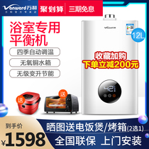 Wan and indoor balanced gas water heater household 12 gas gas liquefied gas powder room 310W12