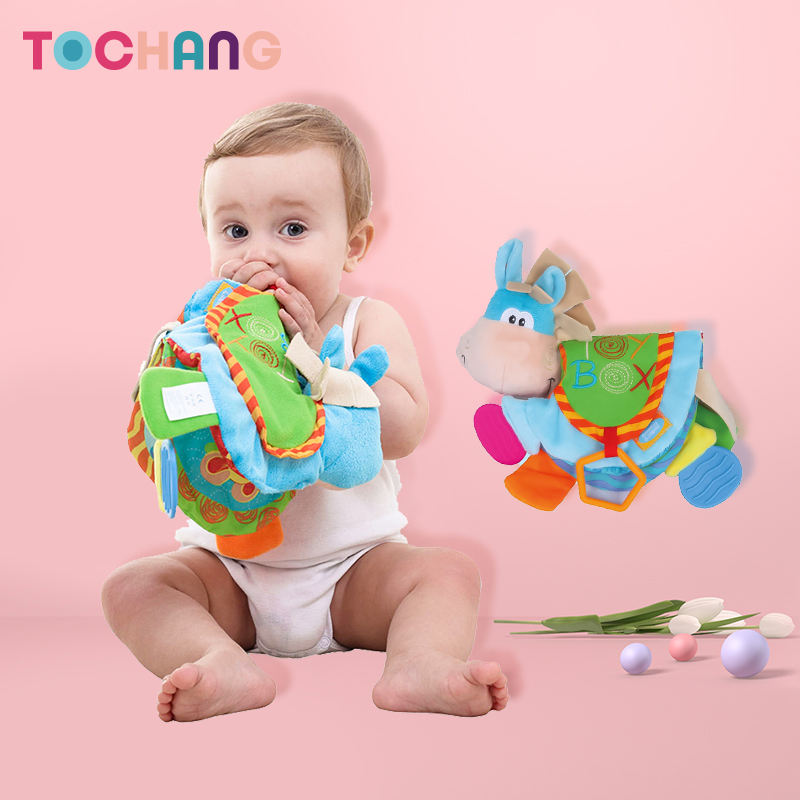 Babies aged 3-6-18 months can chew stereo paper animals, teach early and teach puzzling toys.