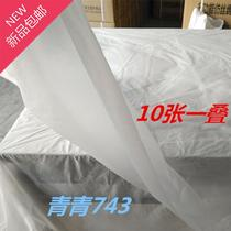Disposable tablecloth thick imitation silk porcelain white plastic waterproof hotel dining room f large round table 3 meters tablecloth