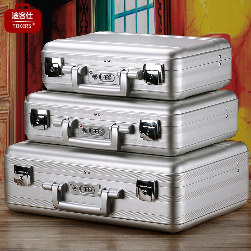 TKS portable aluminum alloy code toolbox instrument equipment box file computer insurance multi-functional customization