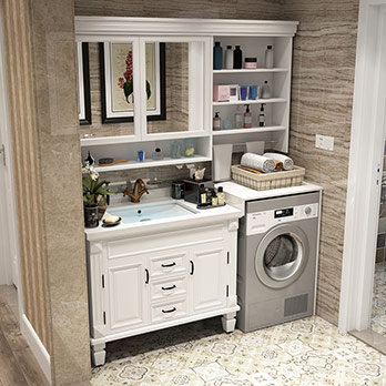 Roller balcony washer cabinet combination bathroom cabinet washer sink cabinet washer companion bathroom washer