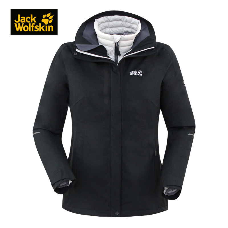Jack wolfskin wolf claw outdoor female models three-in-one jacket down liner 5009371/5012721