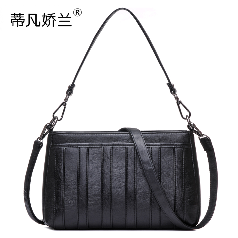 New product Messenger bag middle-aged female bag mother bag 2018 new shoulder bag simple large-capacity handbag soft