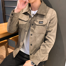 Men's jacket spring and autumn 2019 new Korean version trend ins functional jeans jacket for boys