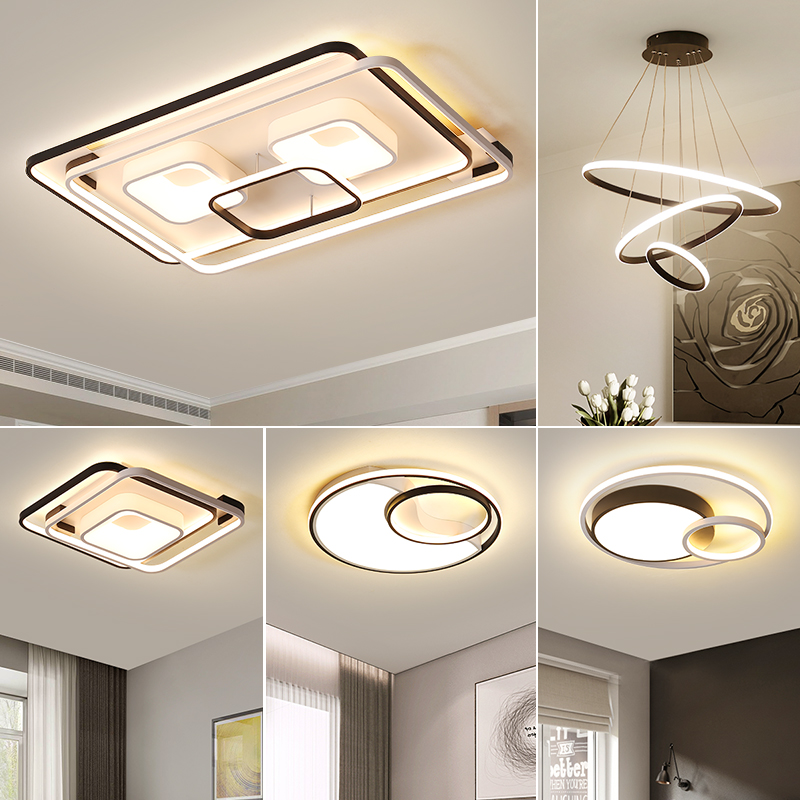 Living room light compact Modern Atmospheric household led ceiling light all-room combination package 2019 new light set meal