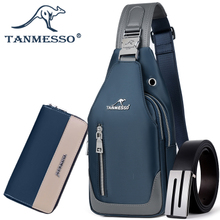 Tanmesso breastpack men's Korean version slant bag leisure Oxford cloth backpack single shoulder bag men's breastpack tide