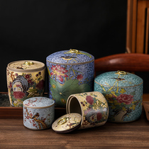 The 瑯-colored coarse ceramic tea cans small sealed cans portable tea box moisture-proof tea cans for home