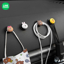 Car interior car paste small hook cartoon seat back front row car hook co-driver decoration articles
