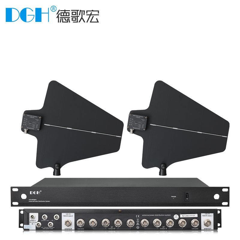 DGH UA844 Microphone Stage Performance School Wireless Microphone Antenna Signal Distribution Enhancer Amplifier