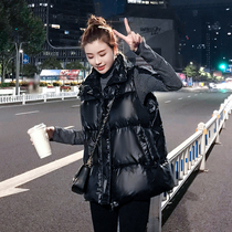 Feather vest female autumn and winter 2019 New duck down Korean version of the short paragraph loose light down jacket vest jacket Jacket