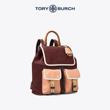 TORY BURCH唐Liboqi PERRYミディアムナイロンウェビングクラムシェルバックパックメスバッグ75593