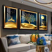 Modern Lightweight, Luxurious and Simple Living Room Decoration Painting European Restaurant Fresco American Sofa Background Wall Atmospheric Triple Painting