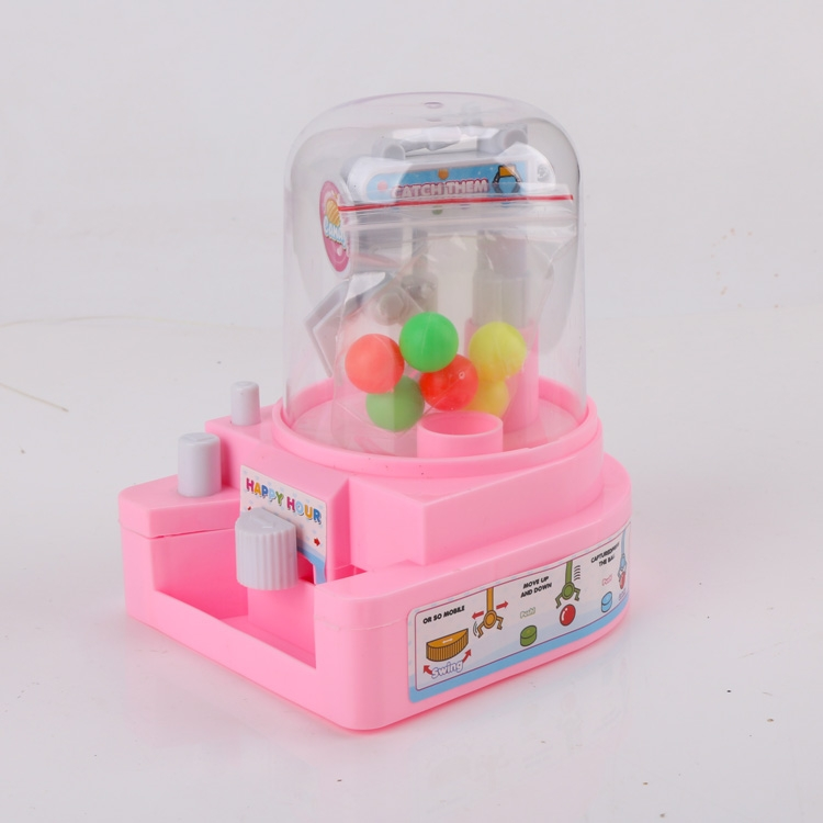 Children's Fun Toys Mini-Grab Doll Machine, Candy Clip, Doll Egg Twister, Boys and Girls'Small Home Game Machine