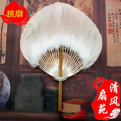 Nanjing Specialty/Summer Baby Pregnant Women Quiet Mosquitoes and Cool Goose Hair Fan Exquisite Craft Feather Fan Daquan