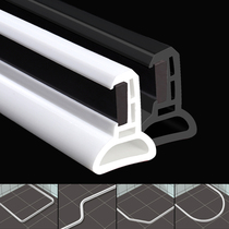 Waterproof magnetic flexible retaining strip bathroom water-blocking water-blocking bathroom wet and dry separation of silica gel