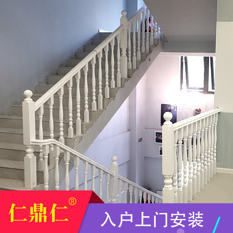 Solid wooden staircase handrails, windows, children's safety guardrails, Chinese-style railings, pillars, indoor balconies, high-rise fences