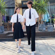 Class uniform summer suit Korean version student JK uniform junior high school school uniform Girl Skirt graduation photo clothing